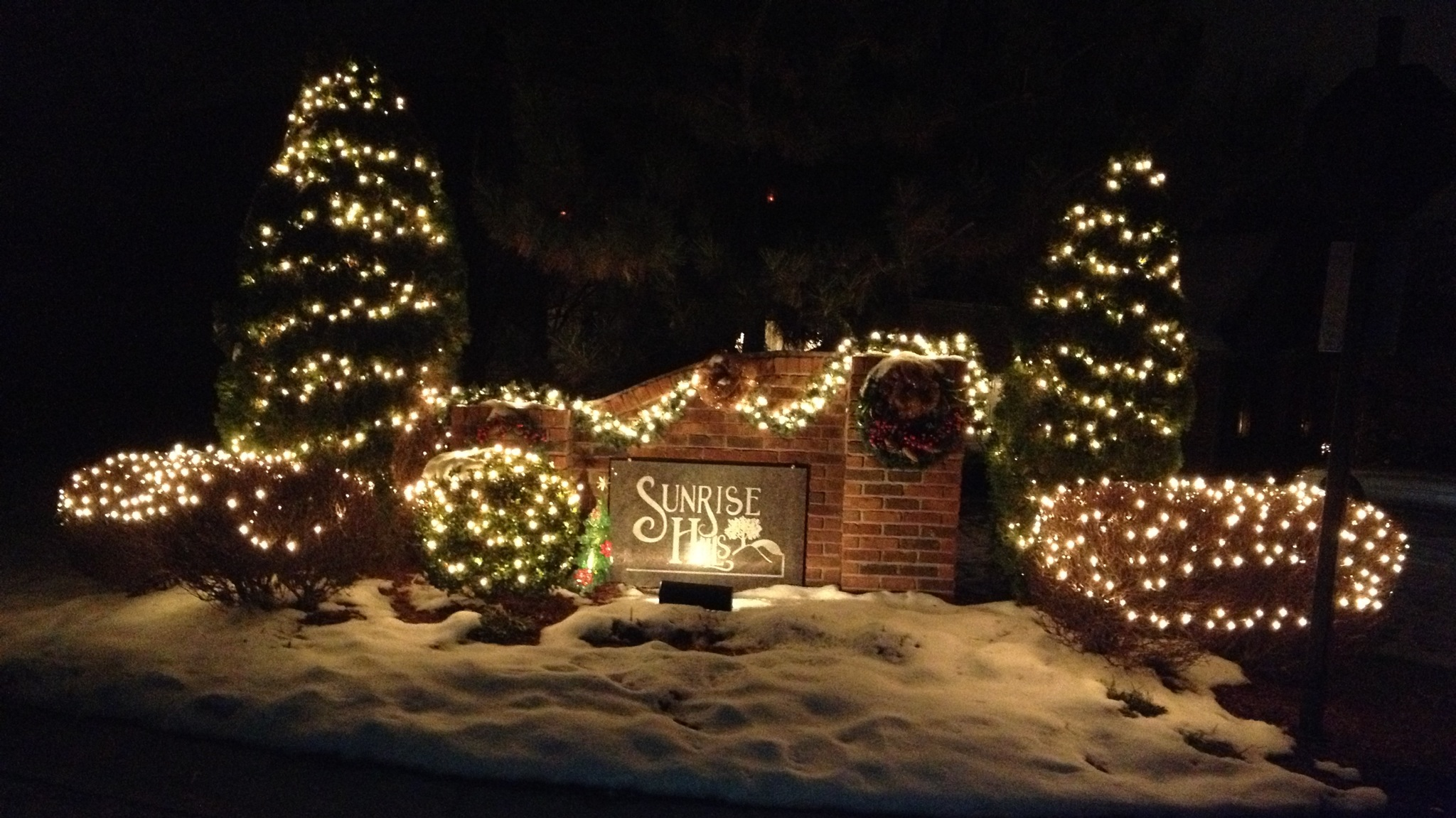 Christmas Decorations For Neighborhood Entrances : Neighborhood images sunrise hills hoa
